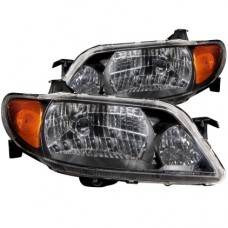 ANZO 2001-2003 Mazda Protege Crystal Headlights Black